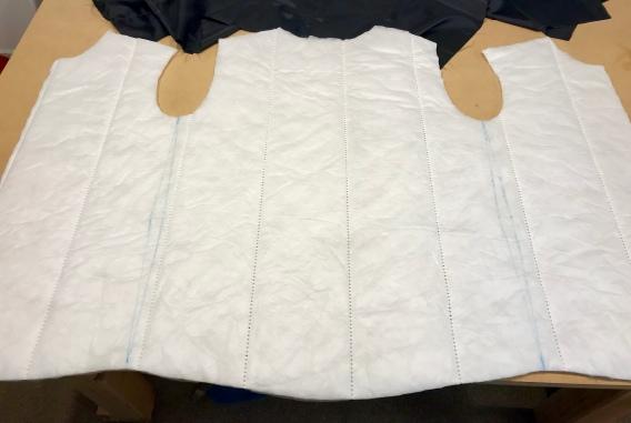 Darts chalked onto insulation